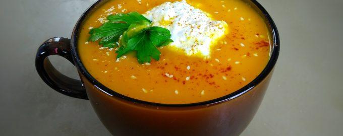 Крем суп из тыквы с рикоттой