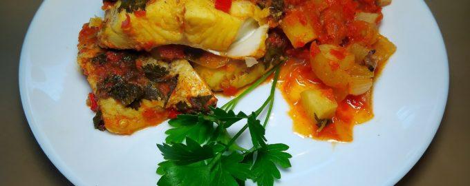 Рыба с овощами по - ливийски