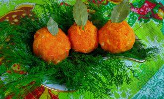 Закуска- сырные шарики Мандаринки