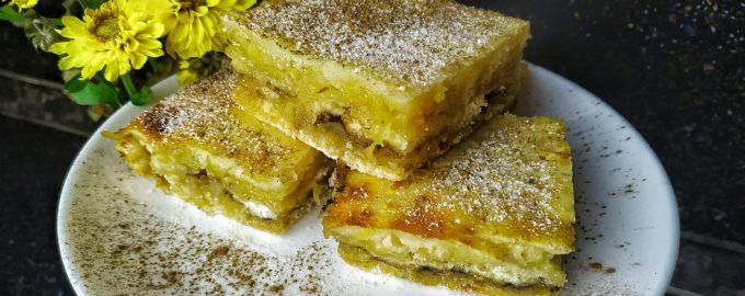 Насыпной пирог с яблоками по болгарски