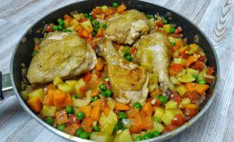 Овощное рагу с курицей - афритада