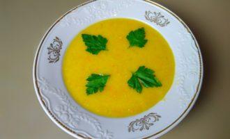 Постный гороховый крем суп