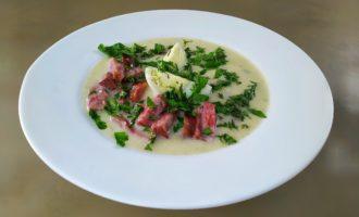 Суп с яйцом и колбасой - Польский белый борщ