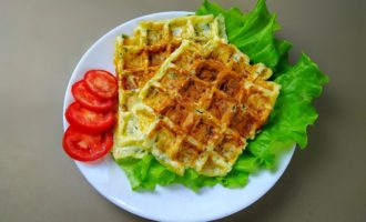 Сырные вафли на завтрак