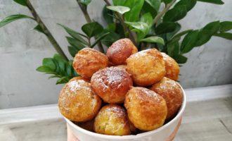 Творожные пончики - шарики со сгущенкой