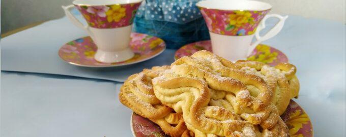 Печенье через мясорубку - Хризантемы