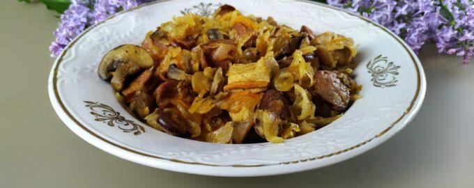 Бигос - тушеное мясо с квашеной капустой