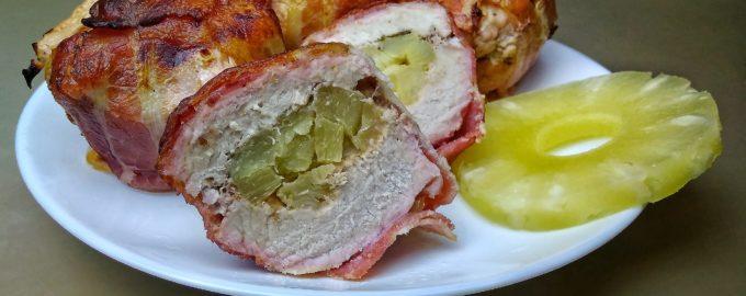 Мясо с ананасами - мясные бомбы