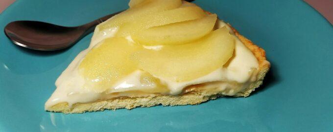 Грушевый пирог на песочном тесте - Тарт с кремом и грушей