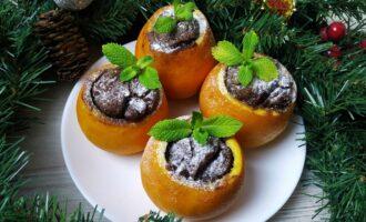 Шоколадные кексы в апельсине