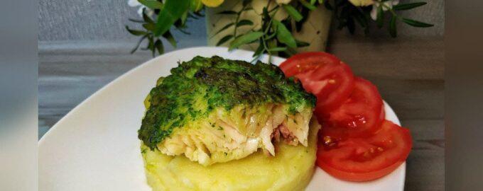 Запеченная рыба с зеленью