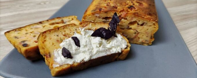 Томатный пирог с ветчиной и сыром